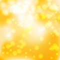Bright yellow bokeh abstract glowing background vector illustration Royalty Free Stock Images