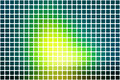 Bright yellow green abstract rounded mosaic background over whit