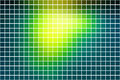 Bright yellow green square mosaic background over white