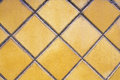 Bright yellow mosaic texture floor Royalty Free Stock Photography