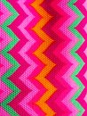 stock image of  Bright zigzag on fabric pattern