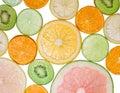 Brighten citrus slices Stock Images