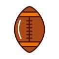 Brightly american football ball cartoon