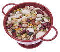 Brightly Colored Beans in a Colander Royalty Free Stock Image
