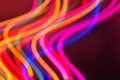 The brightly colored bokeh Royalty Free Stock Photo