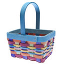 Brightly Colored Easter Basket Stock Image