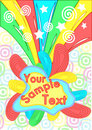 Brightly colored splat design Royalty Free Stock Photo