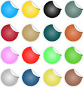 Brightly Colored Web Elements Sale Tag Stickers Stock Photo