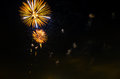 Brightly colorful fireworks and salute of various colors in the night sky,
