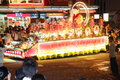 Brightly decorated floats at Wesak Day Procession Royalty Free Stock Images