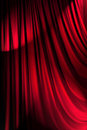 Brightly lit curtains - theatre concept Royalty Free Stock Photography