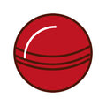 Brightly red ball cartoon