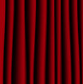 Brightly red curtain a background for design vector illustration Stock Images