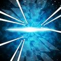 Brightness Background Shows Ablaze Stars And Arrows