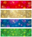 Brightness color christmas banners vector illustration Stock Photography