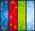 Brightness color christmas banners vector illustration Stock Images
