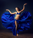 Brightness of dance arabian dance dancing girl in the carnival costume expressive movement bellydance Stock Photos