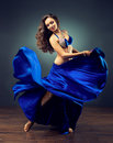 Brightness of dance bellydance dancing girl in the carnival costume expressive movement Royalty Free Stock Images
