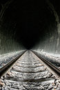 Brightness at the end of the tunnel Stock Photo