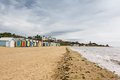 Brighton bay beachhouses Fotografia de Stock Royalty Free