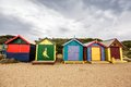 Brighton bay beachhouses Fotografie Stock