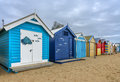 Brighton beach houses Royalty Free Stock Photo