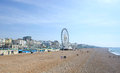 Brighton beachfront with ferris wheel Stock Image