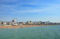 Brighton beachfront with view of its ferris wheel for articles about british tourism or resorts in general Royalty Free Stock Photos