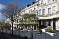 Brighton England - White Terrace Houses Stock Photography