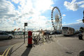 Brighton ferris wheel uk the on the seafront near the pier Stock Images