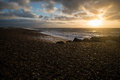 Brighton pebble sunrise