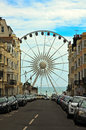 Brighton wheel england view of the ferris or of excellence from the city towards the sea united kingdom Stock Images