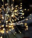 Brights LED lights garland stars snowflake Royalty Free Stock Photo