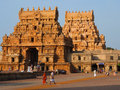 Brihadeshwara temple at thanjavur the historical Stock Photography