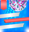 Brilliant background with disco ball vector elements of and banner Royalty Free Stock Photo
