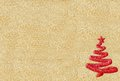 Brilliant christmas tree decoration on golden background red Stock Photos
