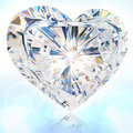 Brilliant cut heart Royalty Free Stock Photo