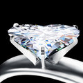 Brilliant cut heart diamond Stock Images