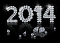 Brilliant new year is a diamond jewelry illustration on a black background Royalty Free Stock Photography
