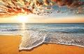 Brilliant ocean. Royalty Free Stock Photo