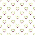 Brilliant pearl necklace pattern seamless
