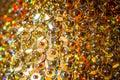 Brilliant shimmer golden background Royalty Free Stock Photo