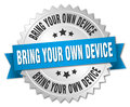 bring your own device round isolated badge