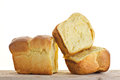 Brioche portions isolated french pastries Stock Images