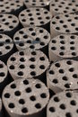 Briquette many used as fuel coal Stock Image