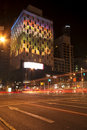 Brisbane, Australia - October 25th, 2014: Colour The City, visual light display in Brisbane City for the G20 meeting. Royalty Free Stock Photo