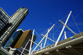 Brisbane city australia and pedestrian bridge qld Royalty Free Stock Image