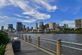 Brisbane river downtown wiev australia qld from south bank park Stock Photo