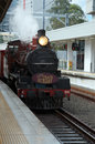 Brisbane steam train old sunday steaming this old fashioned from a bygone era runs once a month from roma street station Royalty Free Stock Photo