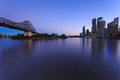 Brisbane at twilight Stock Photography
